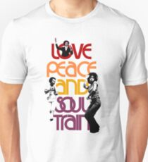 Love, Peace And Soul Train Unisex T-Shirt