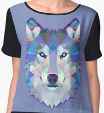 Wolf Animals Gift Chiffon Top