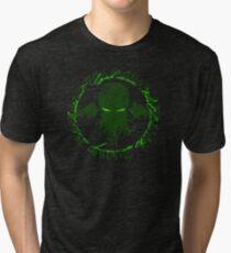 In his house at R'lyeh dead Cthulhu waits dreaming GREEN Tri-blend T-Shirt