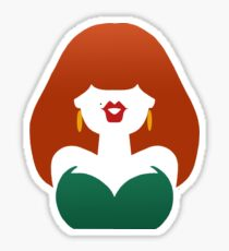 Red-Haired Coquette Sticker