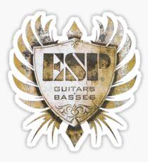 ESP Guitar Craft Academy Grunge Badge Sticker