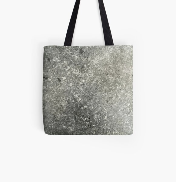 Grey Marbled Stone Texture All Over Print Tote Bag