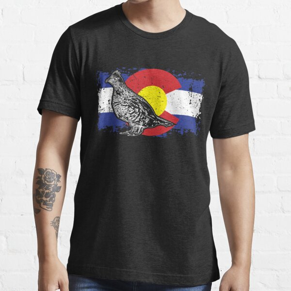 Grouse Hunting Colorado Map T Shirt Grouse Hunting Hunter Tshirt Grouse Hunting Colorado Map Shirt Vintage Gift Essential T-Shirt