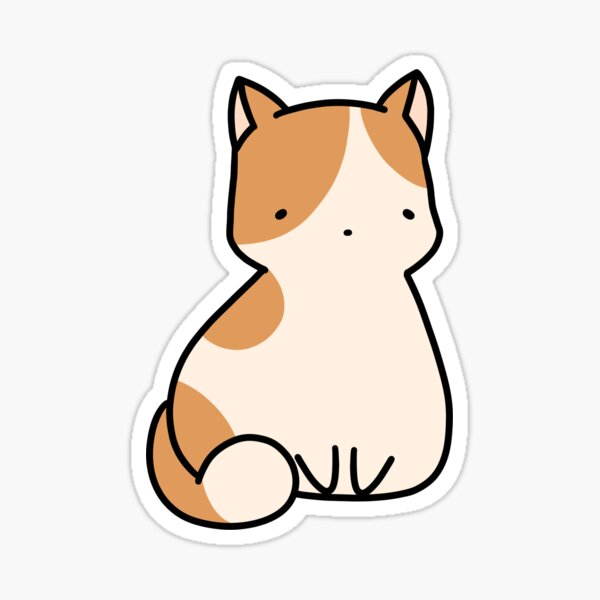 patchy cat Sticker