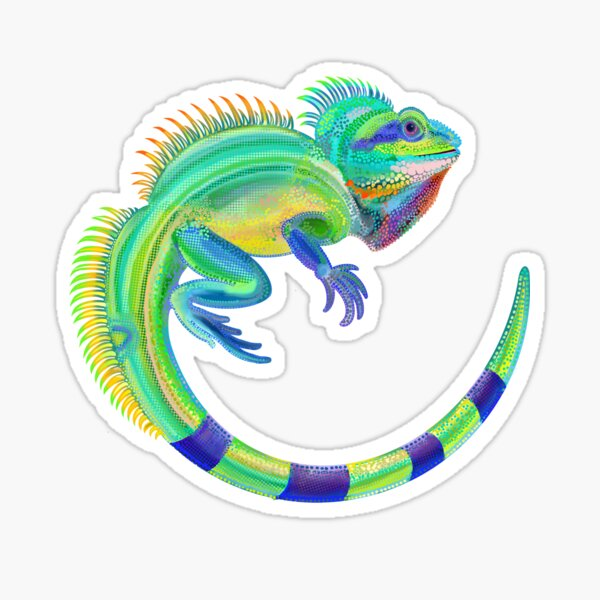 Chinese water dragon Sticker