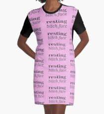 Resting Bitch Face Graphic T-Shirt Dress