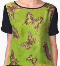 Butterflies Pattern Chiffon Top
