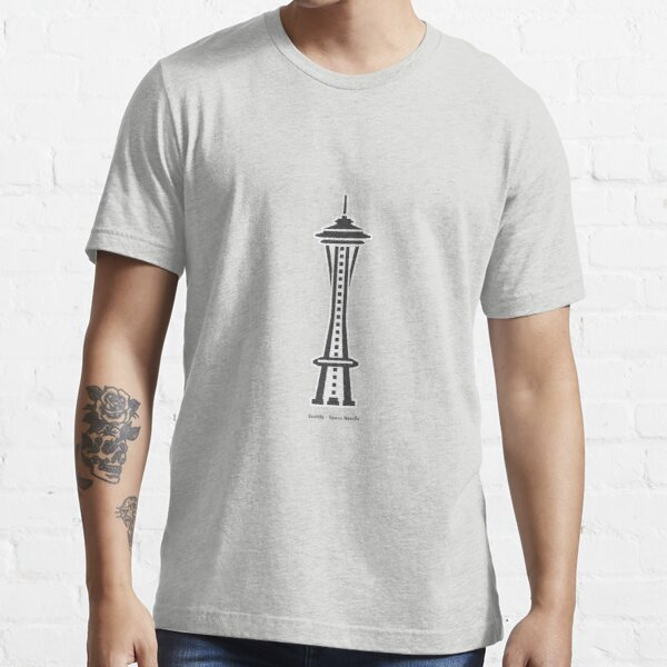 Seattle Space Needle Landmark Icon Essential T-Shirt