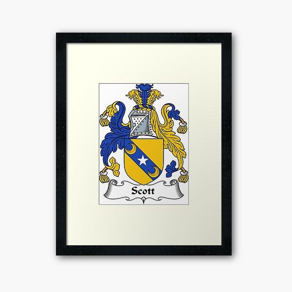 Scott Coat of Arms / Scott Family Crest Framed Art Print