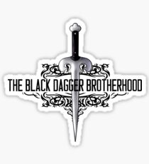 The Black Dagger Brotherhood  [black text] Sticker