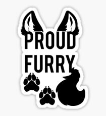 PROUD FURRY Sticker