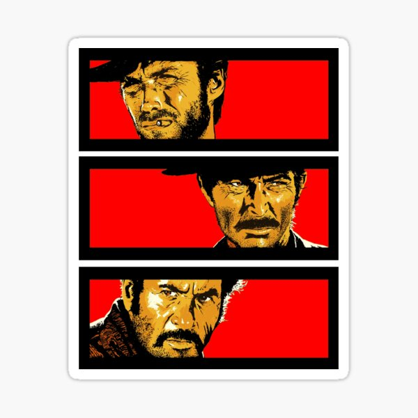 Western duel Sticker