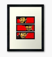 Western duel Framed Print