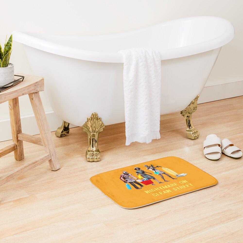 Nightmare on Clean Street, Housekeeping Humor, Halloween Bath Mat