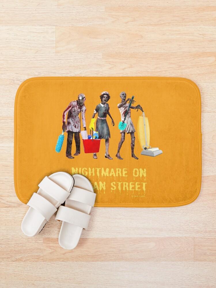 Alternate view of Nightmare on Clean Street, Housekeeping Humor, Halloween Bath Mat