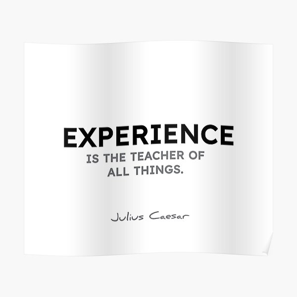 Julius Caesar quotes - Experience is the teacher of all things. Poster
