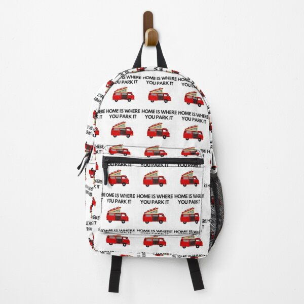 Home Is Where You Park It | Camper Van Retro Backpack