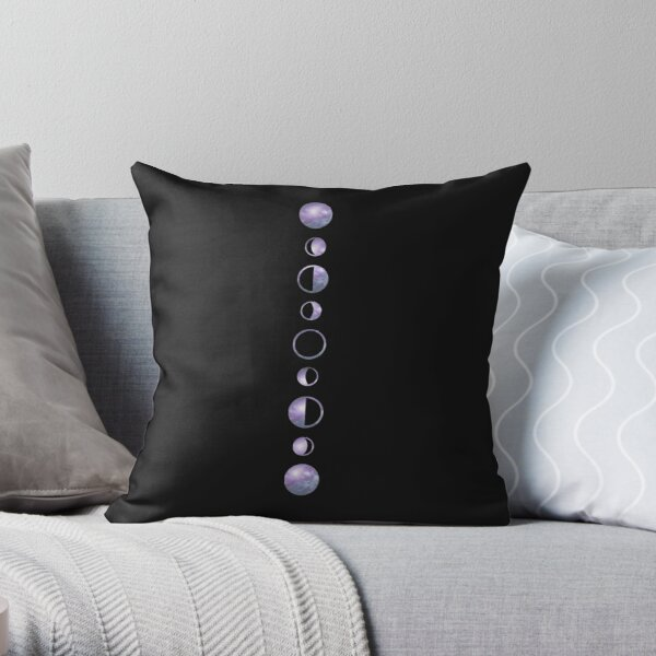 Moon Phases - Galaxy Throw Pillow