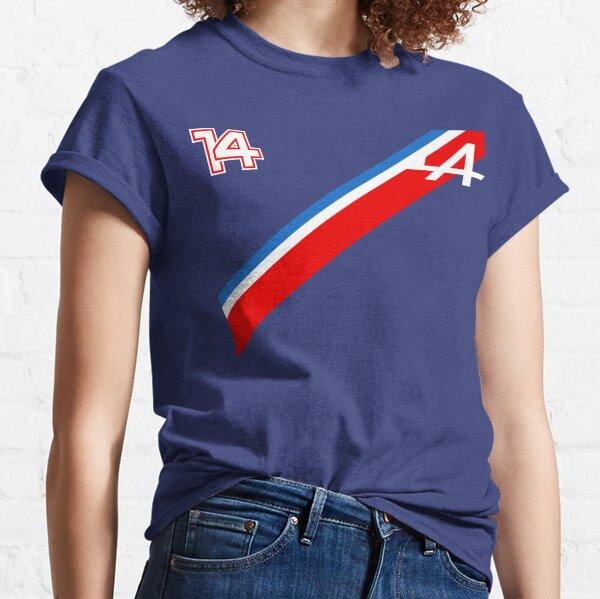 Fernando Alonso 14 Tricolor - Alpine F1 2021 Camiseta clásica