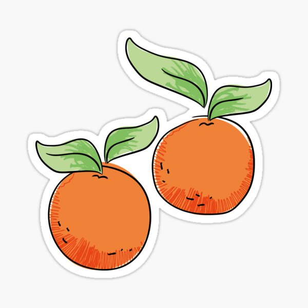 Orange Tangerines  Sticker