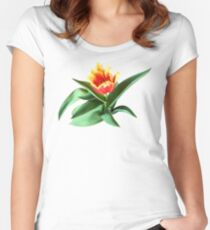 Frilly Orange Tulip Women's Fitted Scoop T-Shirt