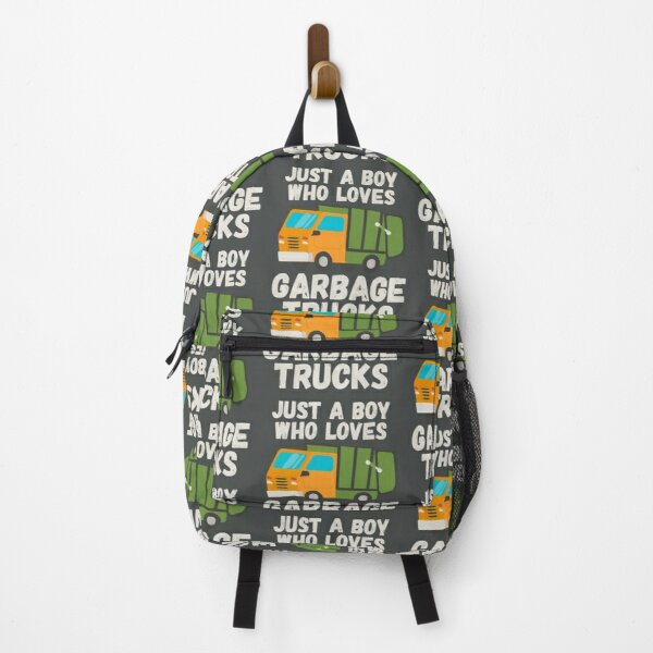 Just A Boy Who Loves Garbage Trucks Backpack
