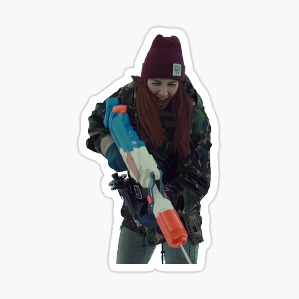 Nicole Haught with water gun drawing Sticker