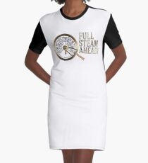 Full Steam Ahead! Graphic T-Shirt Dress