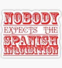 Nobody expects the spanish inquisition | Best of British Cult TV | Monty Python Sticker