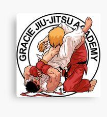 RYU VS KEN - GRACIE JIU-JITSU STYLE Canvas Print