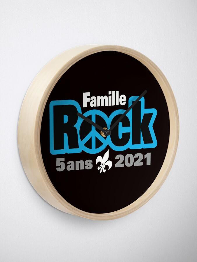 Horloge ''Famille Rock Édition 5ans': autre vue