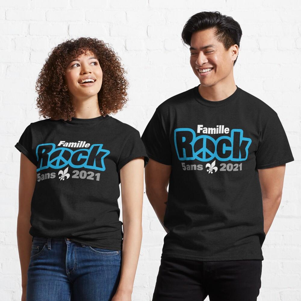 T-shirt classique «Famille Rock Édition 5ans»