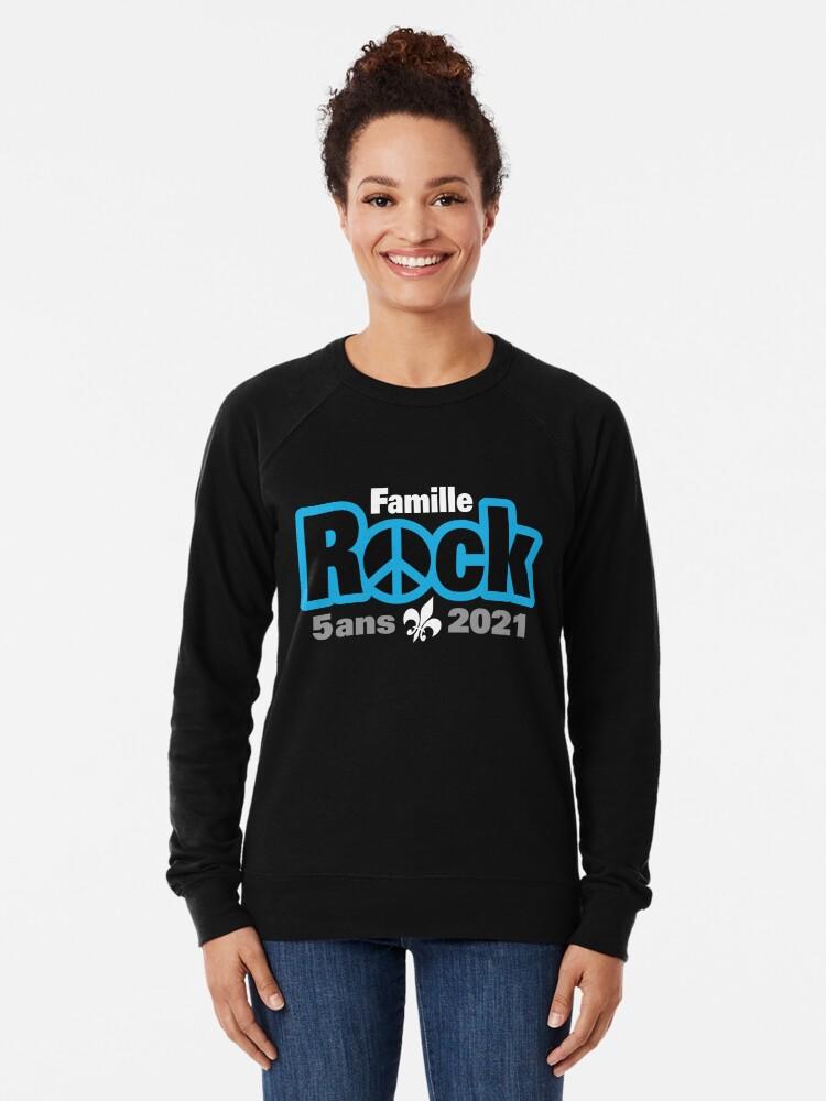 Sweatshirt léger ''Famille Rock Édition 5ans': autre vue