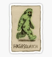 Hashsquatch (sketch version) Sticker