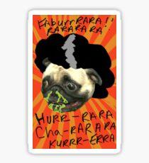 Pugtoe!!! Sticker