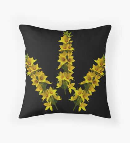 Dotted Yellow Loostrife, Muckross Head, Donegal Throw Pillow