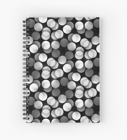 No Color Bokeh | Black and White Patterns #7 Spiral Notebook