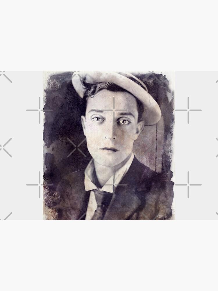 Buster Keaton - Watercolor Vintage - D14 by DecoWords