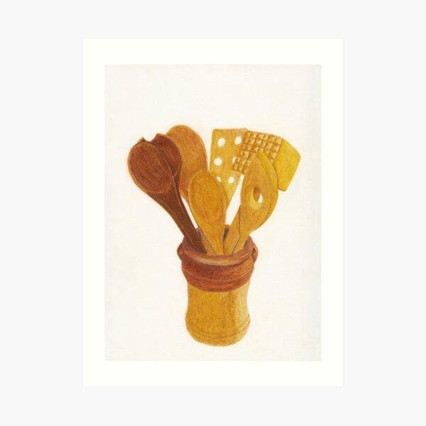 Wooden Cooking Utensils Art Print