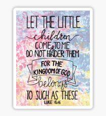 Luke 18:16 Sticker