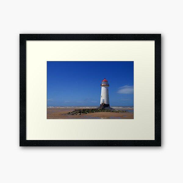 Point of Ayr Lighthouse at Talacre Beach Framed Art Print