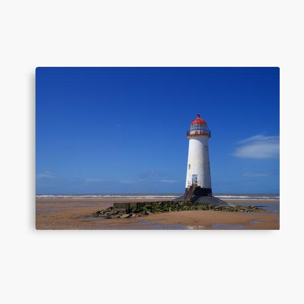 Point of Ayr Lighthouse at Talacre Beach Canvas Print