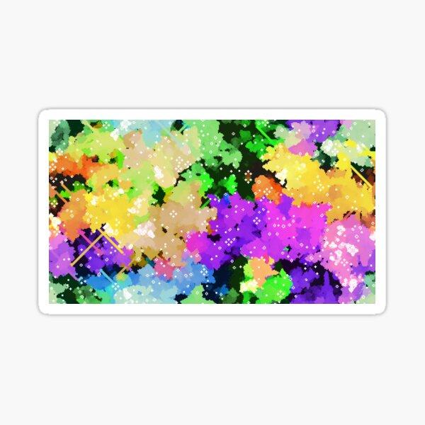 Rainbow Pixel Cloud Art Sticker