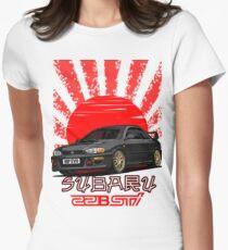 Subaru Impreza 22B WRX STI - R.I.P. EVO (Black) Women's Fitted T-Shirt