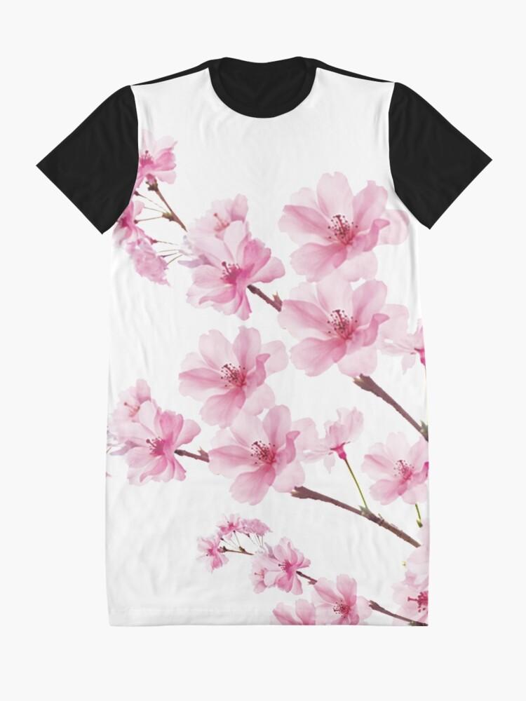 Alternate view of Sakura Cherry Blossom Graphic T-Shirt Dress