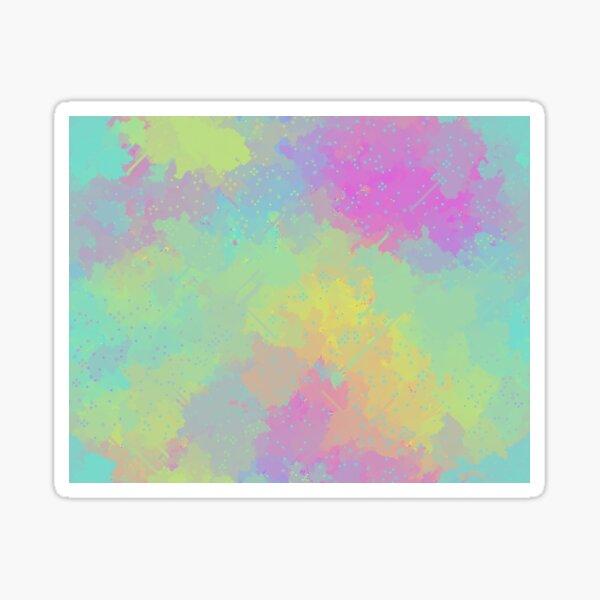 Pastel Pixel Clouds Sticker