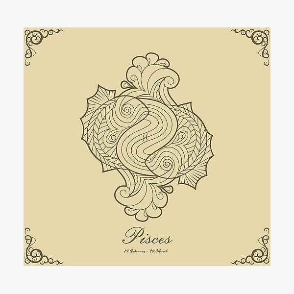 Pisces gold Photographic Print