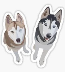 Huskies  Sticker