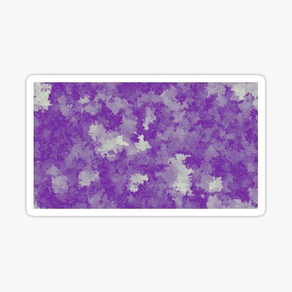 Purple Pixel Cloud Art  Sticker