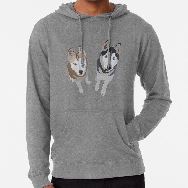 Perros esquimales Sudadera ligera con capucha